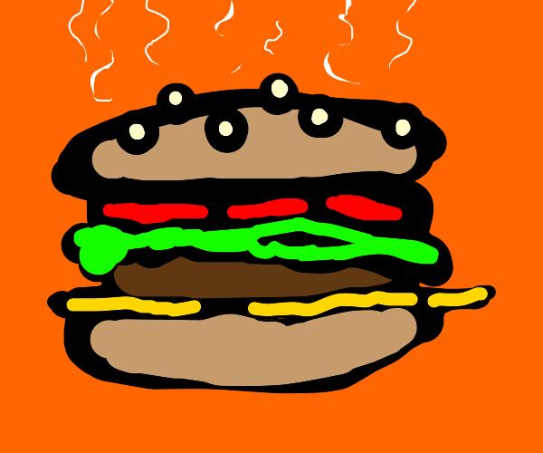 Steaming Hamburger