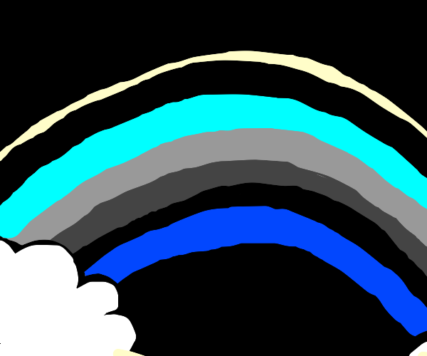 rainbow, but it's black and blue