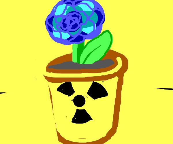Radiation makes a plant grow