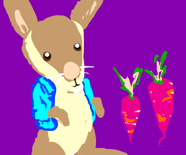 Peter Rabbit and his Pink Carrots