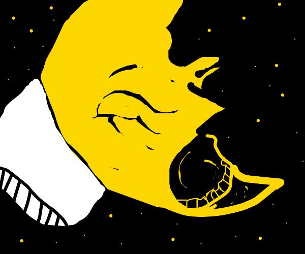 a very sleepy moon