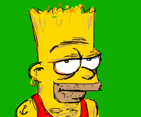 Bart Simpson all grown up