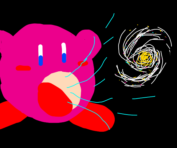 Kirby devours the entire universe