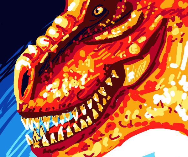T-rex is so gotdamn crunchy, i could eat it