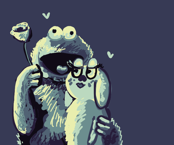 Cookie monster gets a girlfriend