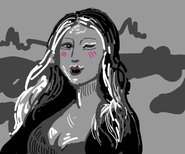 Mona Lisa but flirty