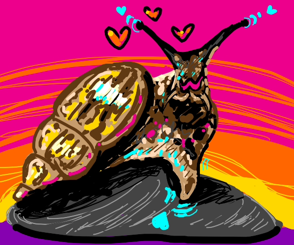 Cute snail likes you