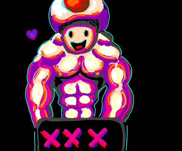 Buff toad from mario