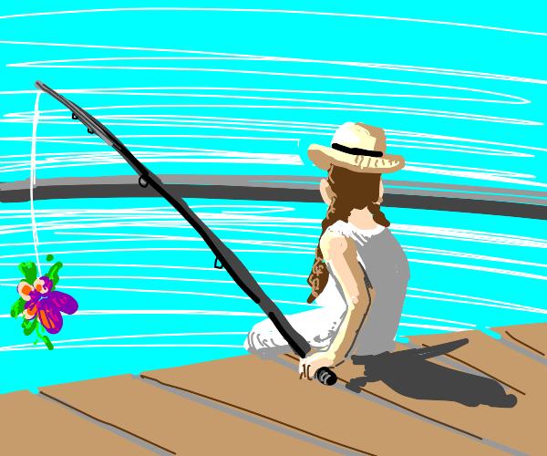 Fishing a Flower