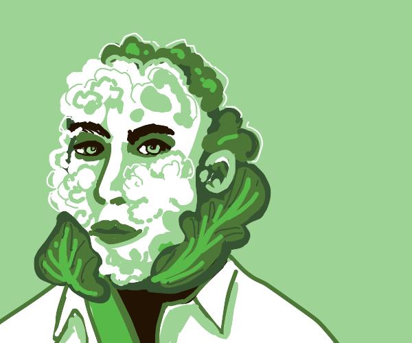 man with a cauliflower face