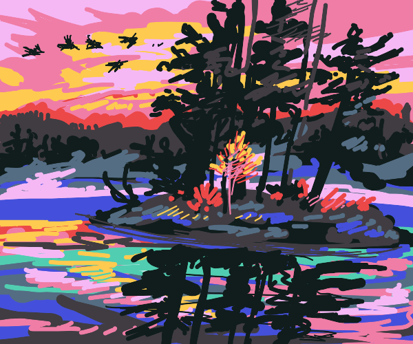 Forest Lake scenery