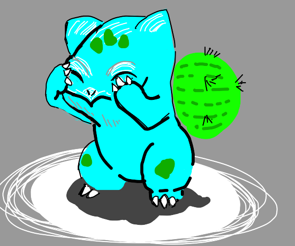 Bulbasaur with a cactus on its back