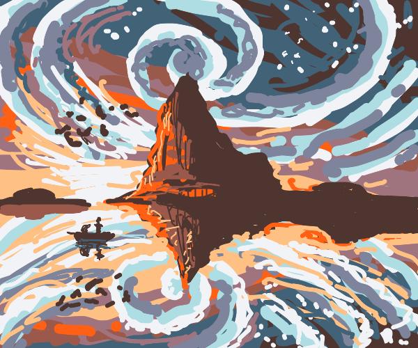 otherworldly island landscape
