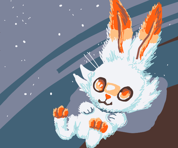 Scorbunny under the stars (Pokemon)