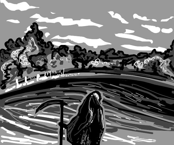 Death near a lake