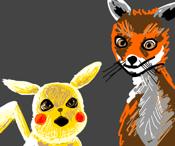 little pikachu and the big weird fox?