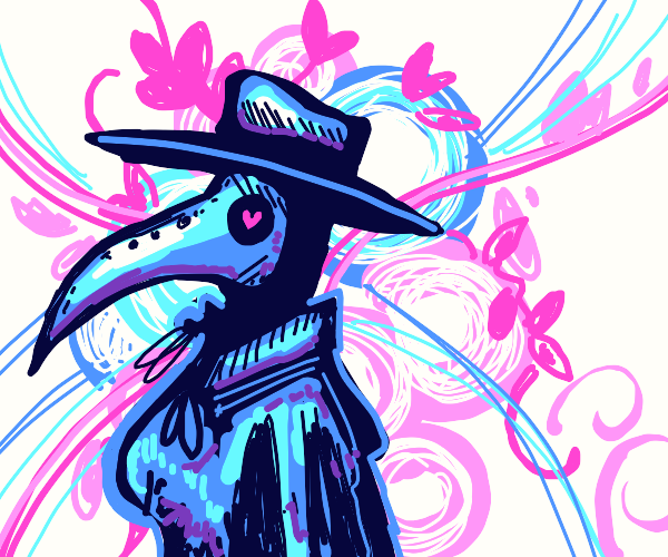 Plague Doctor fawns over her loved one