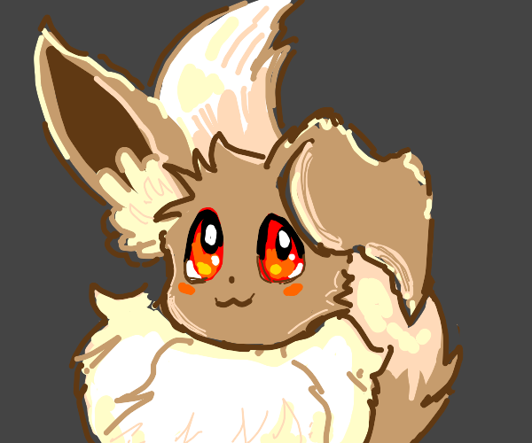 eevee with red eyes