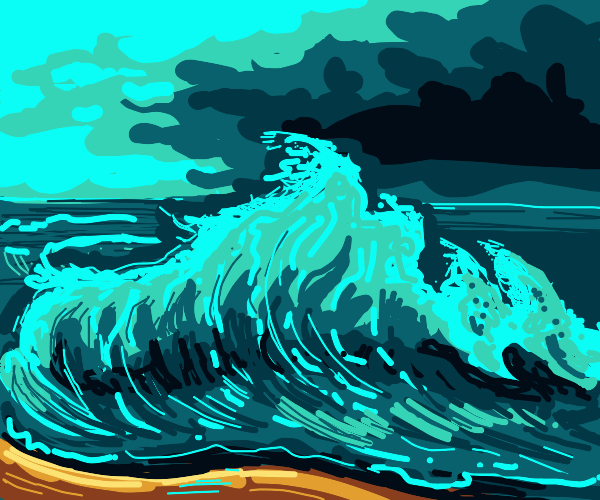 Super gnarly wave