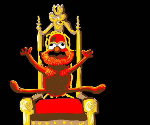 elmo rises from his throne