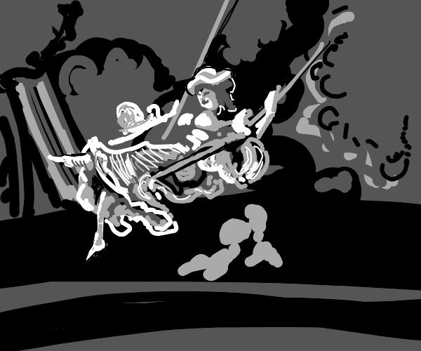 swinging on a swing :D
