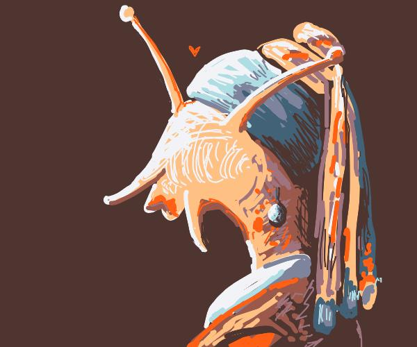 Humanoid female snail