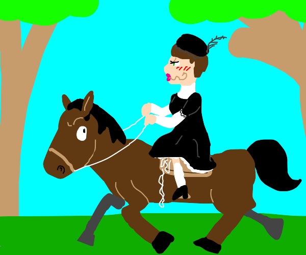 Woman with horse fetish
