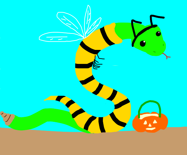 viper dressed as a yellowjacket for halloween
