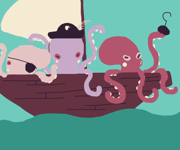a ship of pirate octopuses