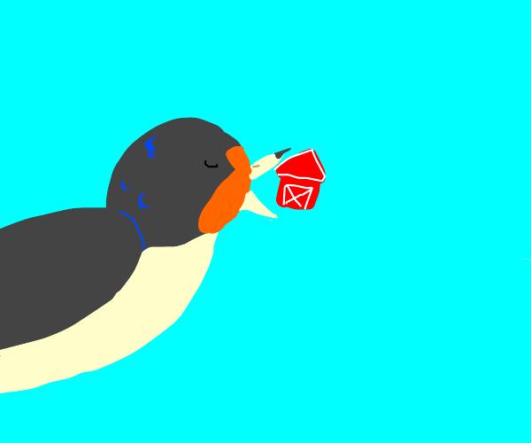 Barn swallow swallowing a barn