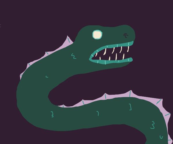 snakelike deep sea monster