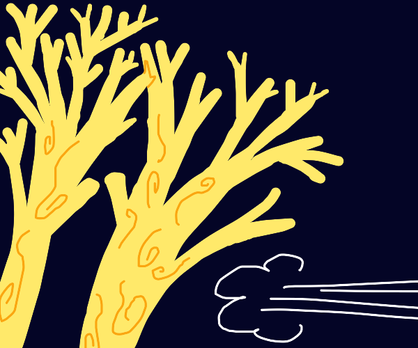 i must flee the yellow trees