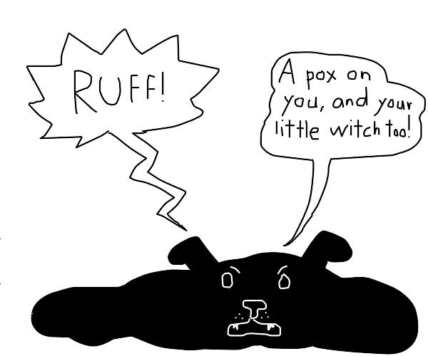 melted dog puddle barks at you