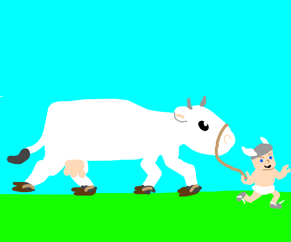 a baby stole my cow!