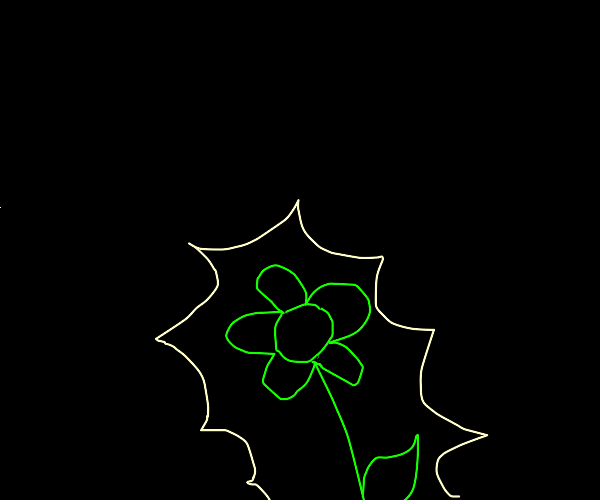 glow in the dark flower
