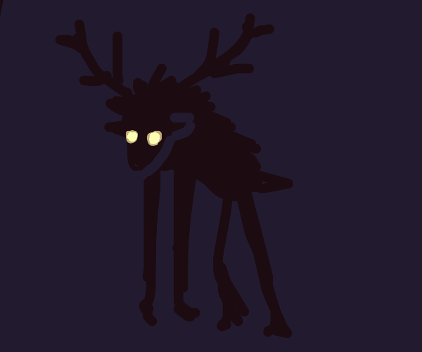 Wendigo menacingly stares at youre soul