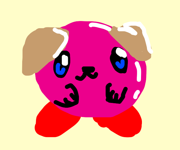 kirby as a dog woof woof