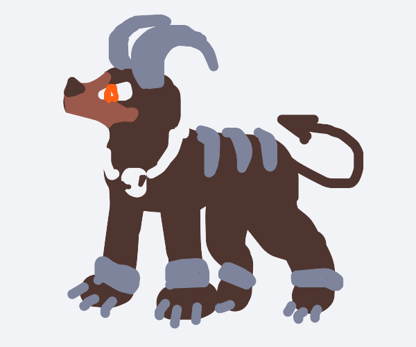 houndoom assumes the position