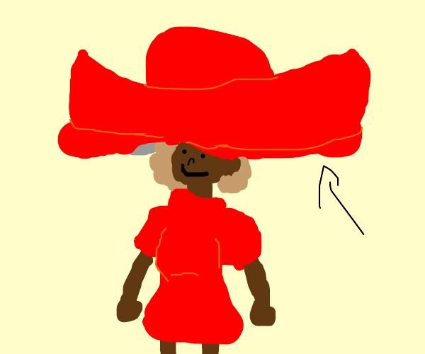 a lady hat. it's weird.