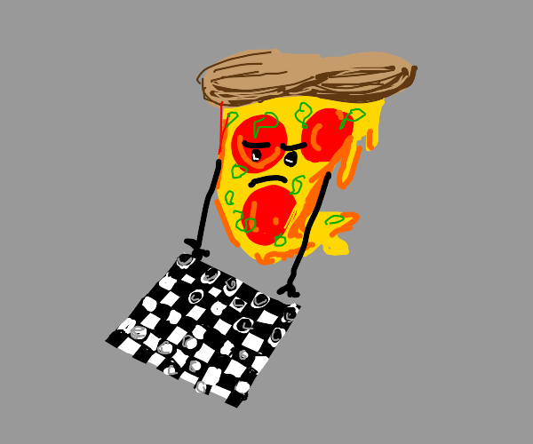 pizza plays a game