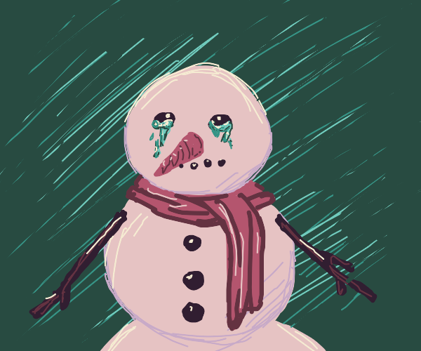 crying snowman