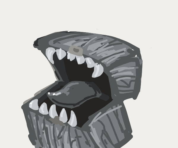 Chest with teeth
