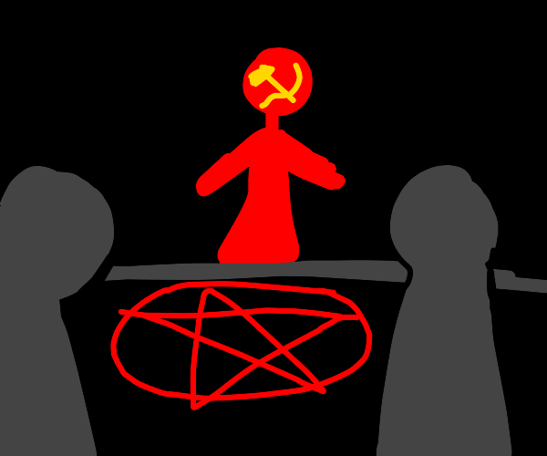 personified communism starts a cult