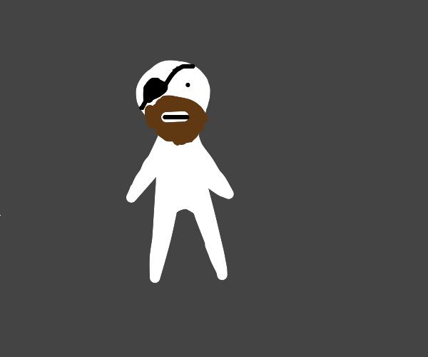 Beardy guy wearing his eyepatch wrong