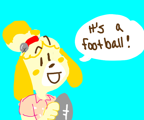 its a stone isabelle you didnt make it!