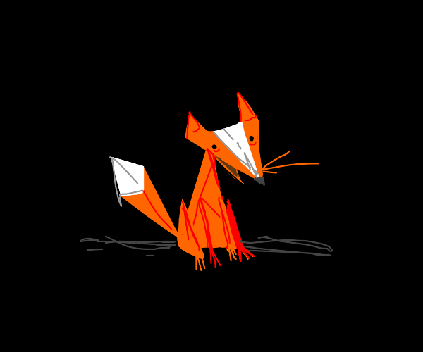 Fox made of polygons