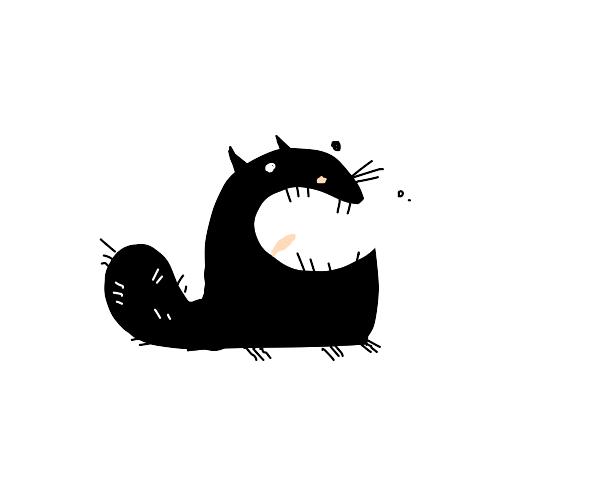 Black Cat Smiles