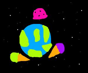ice cream in orbit