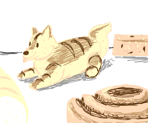 dog shaped bread