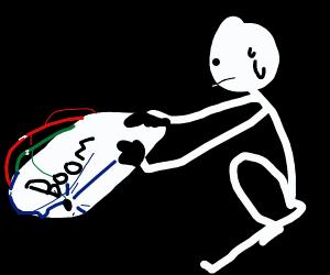 detonating a beeping bomb